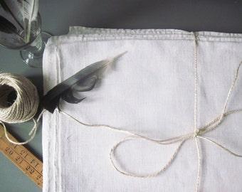 Homespun  Linen Hemp sheet Sheet Large Antique French Hemp Chanvre Linen Sheet Hand Woven 1800s with Center Seam