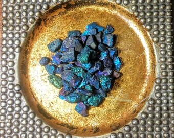 CHALCOPYRITE, Rough Stone, Blue, Green, Healing, Crystals, Blue Peacock Ore