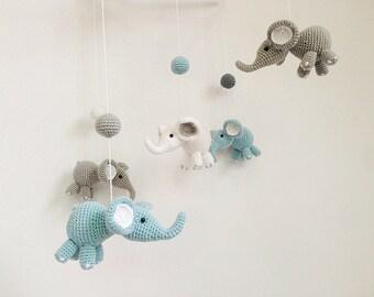 Baby mobile etsy - Babyzimmer elefant ...