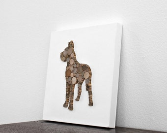 Rustic Modern Home Decor, Great Dane Art, Mixed Media Dog Decor