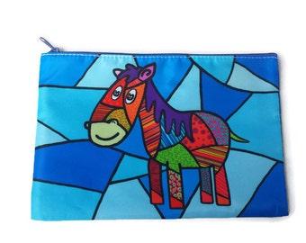 Cosmetic bags, pencil case, horse purse, horse pouch, case