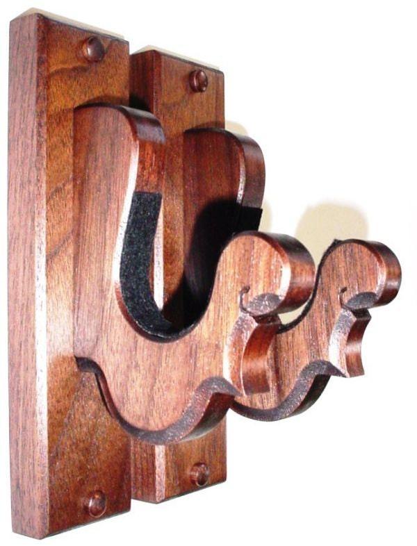Wooden Gun Rack Hangers Solid Walnut Antique Rifle Shotgun