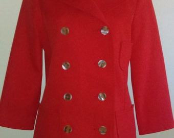 Vintage Red Montgomery Ward Double Breasted Blazer.  Love!