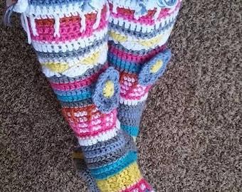 Crocheted Knee Socks