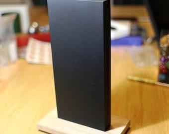 TMA - 02 6061 Aluminum Monolith with Cerakote Abys Black coating - Oak Stand - Signed