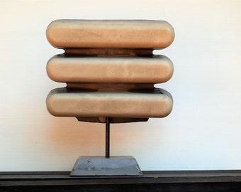 Concrete Sculpture:  Kevlar Reinforced, Handmade-Mid Century Sculpture