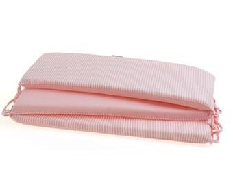 Baby Bumper Girl, Pink Crib Bumper, Bumper Pad, Mini Crib Bumper, Cot Bumper Organic Cotton Nursery Bedding