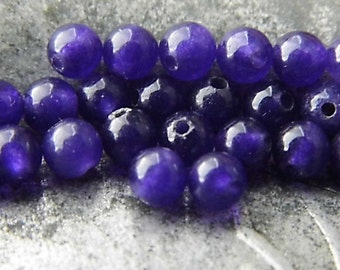 Imperial Purple Beads, Agate Beads, Beads