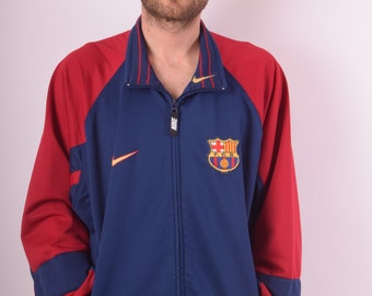 Vintage 90s'Nike Team Jacket Barcelona Rivaldo years  (638)