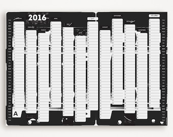 TAPE DECK 2016 Wall Planner