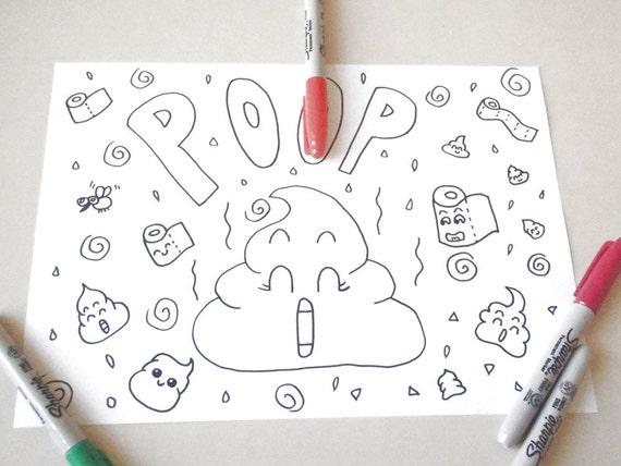 Cacchina kawaii disegno da colorare cacca cacchetta carini for Disegni facili kawaii