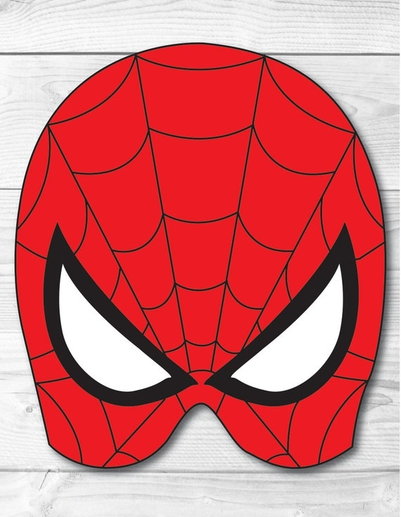 It is a photo of Agile Spiderman Mask Printable