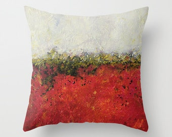 Red Throw Pillow, White Pillow, Decorative Pillows, Colorful Pillows, Abstract Pillow Covers Throw Pillows Sofa Accent Pillow, Patio Pillows
