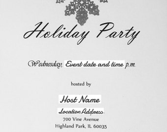 50 Holiday Invites (100% HANDMADE)