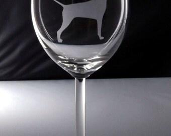Vizsla Wine Glass