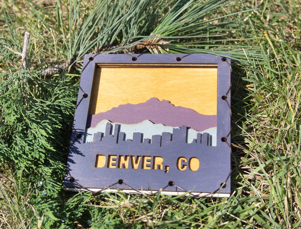 Colorado Home Decor Denver Art Denver Wall Hanging Denver Decor Colorado Decor Denver Decorating Idea