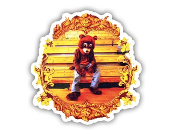 Kanye West The College Dropout Album Cover Laptop Vinyl Decal Sticker