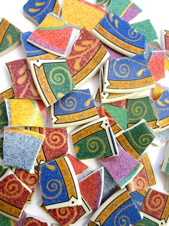 50 mosaic tiles craft colorful mosaic tile tile mosaic for Mosaic pieces for crafts