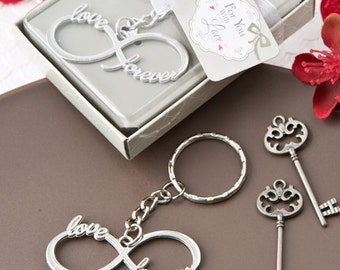 Keychain favor- Infinity design silver metal key chain-silver metal key chain(F5266)