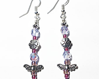 Beaded Butterfly Earrings