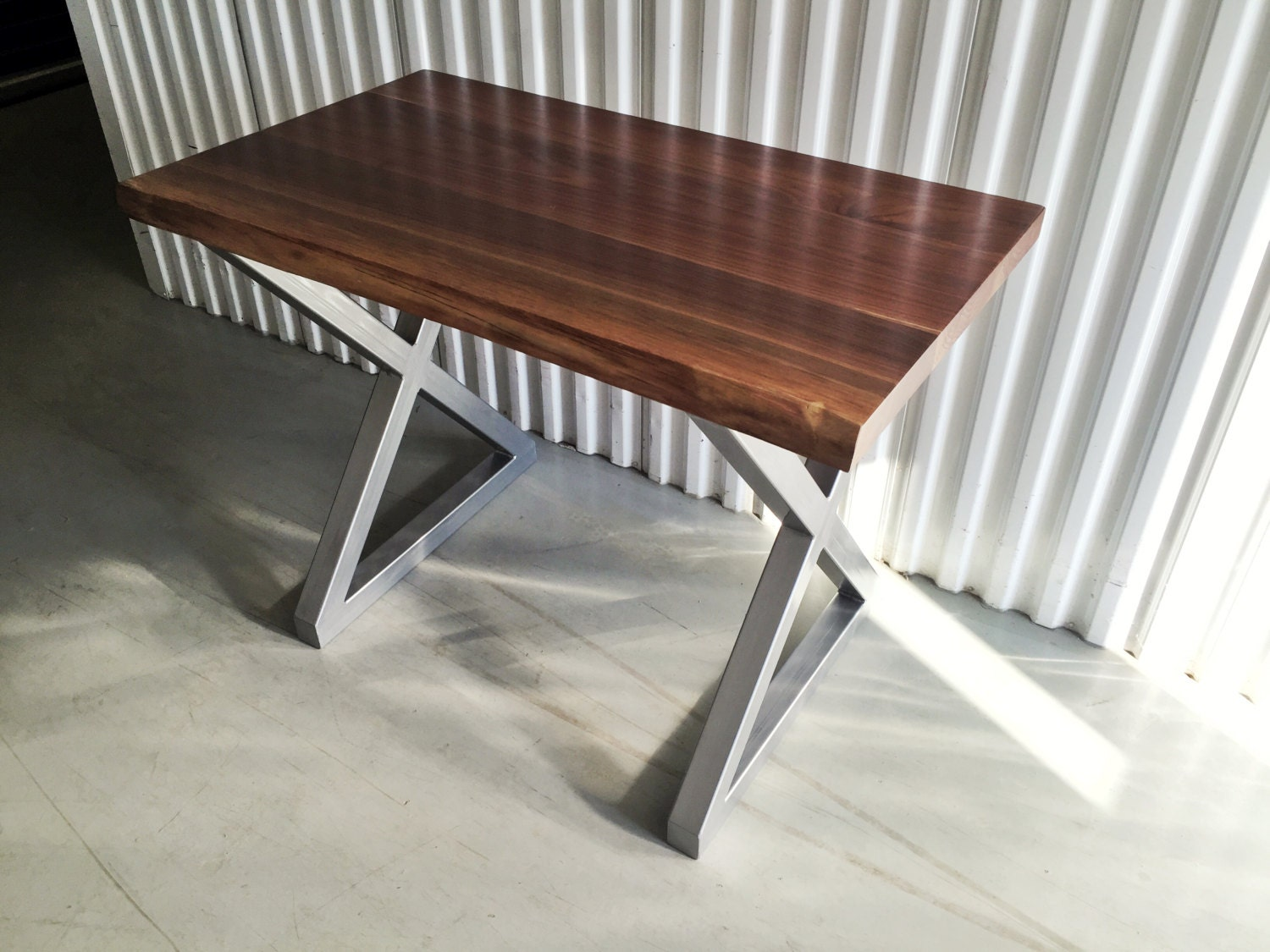 X frame steel metal dining table legs desk legs height for Dining table frame