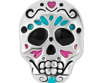 Candy skull floating charm
