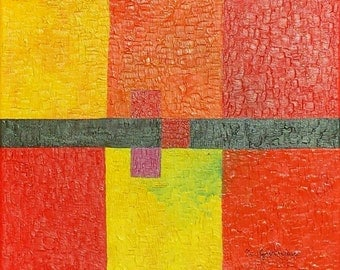 Modern Framework, painting, geometric, contemporary, symmetry, lines, squares