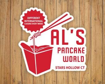 Al's Pancake World (Gilmore Girls) Decal/Sticker