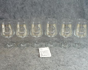 Gaelic Coffee Glasses By Cavan Ireland Set Of 6 C. 1970s