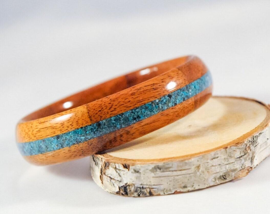 mahogany wooden bangle bracelet custom handmade bracelet