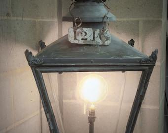 W M edgar Hammersmith Painted Copper Winsor Lantern
