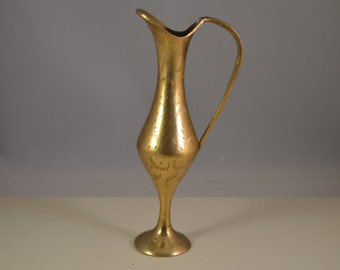 Vintage  flower pot,vase,solid brass,thin line...