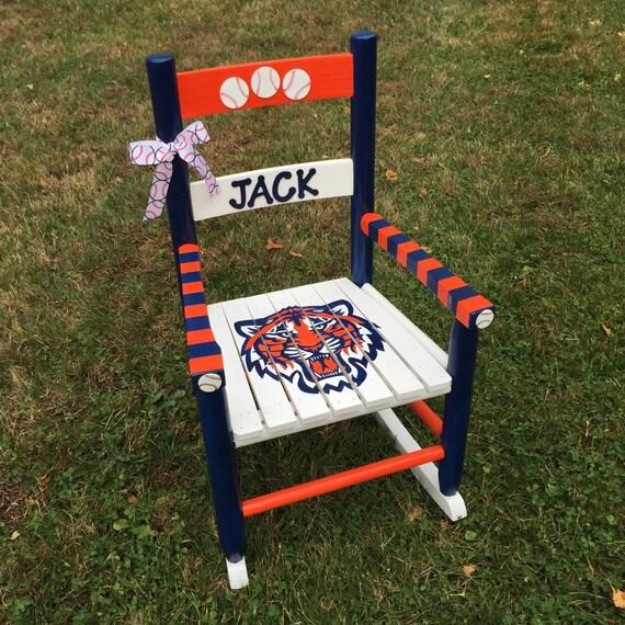 Hand-Painted Kids Rocking Chair Nursery Decor Children's