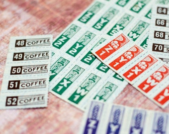 Vintage War Ration Stamps WW2 Coffee Food Gasoline Sugar Rations WWII Ephemera