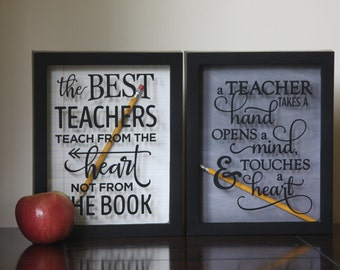 Teacher Gift, Teacher Appreciation Gift, Shadow Box