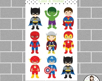 Superhero Planner Stickers