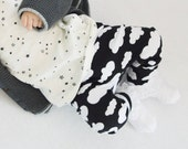Monochrome Leggings  Cloud Leggings Baby Leggings Toddler Leggings Kids Pants Boys Leggings Girls Leggings Cloud Pants Baby Pants