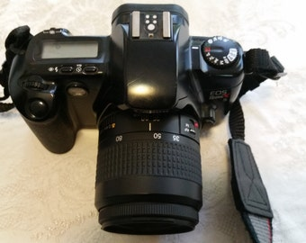 Vintage Canon Eos RebelX S 35mm SLR Film Camera w/Canon Zoom Lens EF 35-80mm 1:4-5.6 III - Beautiful Cond
