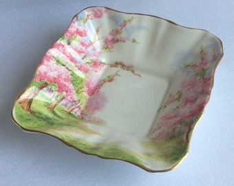 Royal Albert BLOSSOM TIME Bone China Square Sweet Meat / Mint Dish - Made in England