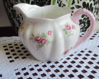 Free Shipping Shelley BRIDAL ROSE Bone China Mini Creamer