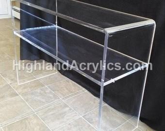 Waterfall Table with Shelf