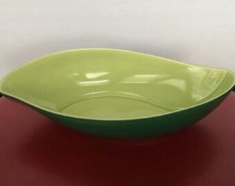 Vintage Mid Century Modern Roselane Pasadena California A 11 Teardrop Bowl - Dish - Jade Green - Lime Green - California Art Pottery -Atomic