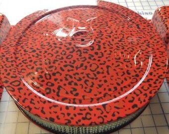 """Hydrodipped """"Cheetah Print"""" Small Block Chevy Valve Covers & Air Cleaner Assembly"""