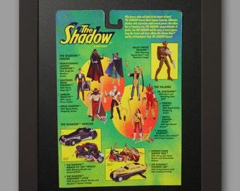 VINTAGE! 1994 Kenner The Shadow Action Figure Framed Card Back