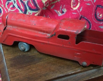 Red Metal Toy Train Engine from1930s/40s
