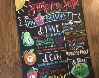 Hungry caterpillar Birthday Chalkboard / hungry caterpillar Birthday / caterpillar Birthday / Birthday Chalkboard / Chalkboard