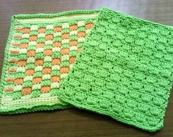 Crochet Dish Cloth Set