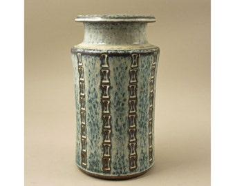 Stoneware Bamboo Vase, Maria Philippi,  Soholm, Denmark. 1960's, Retro, Mid Century