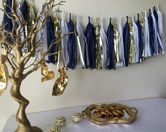 Nautical Glam Extra Long Tissue Tassel Garland