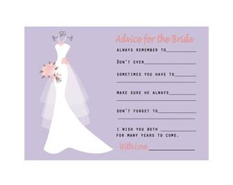 Bridal shower advice cards happy wedding wishes wedding wedding advice cards bridal shower advice cards wedding day cards wedding wish cards stopboris Gallery
